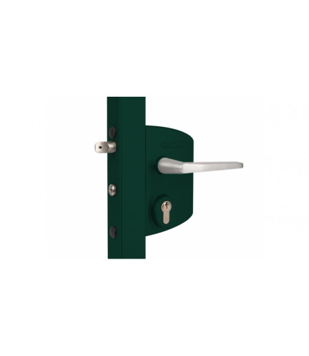 Замок LAKQ 6060 U2L корпус металлический, с ручками из алюминия, зеленый RAL 6005