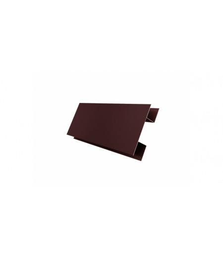 Планка H-образная 0,4 PE с пленкой RAL 8017 шоколад