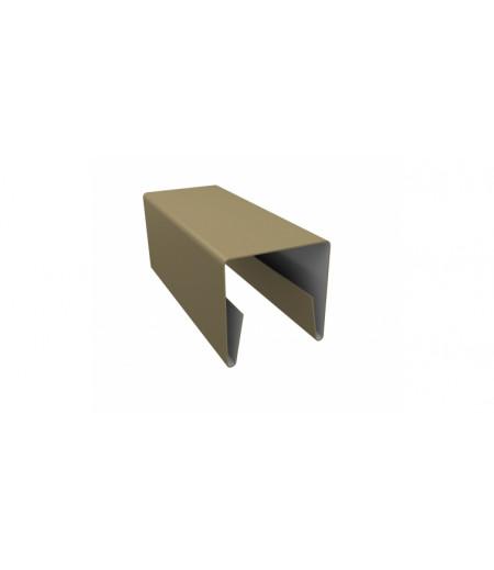 Планка П-образная заборная 20 0,45 PE с пленкой RAL 1014 слоновая кость