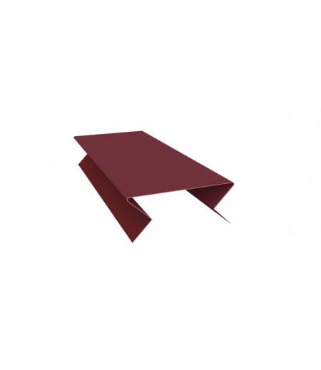 Планка угла внешнего составная нижняя 0,45 PE с пленкой RAL 3005 красное вино
