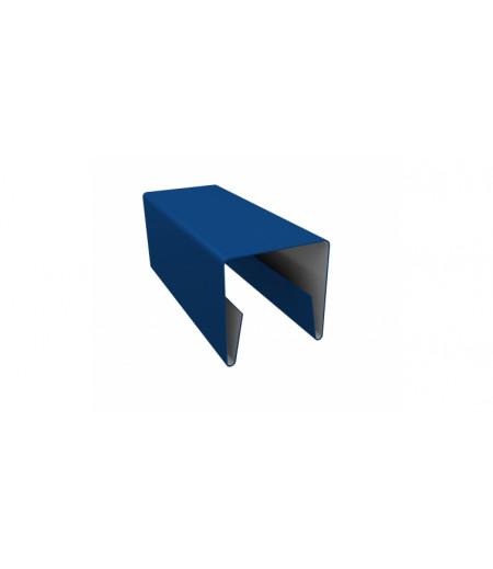 Планка П-образная заборная 20 0,4 PE с пленкой RAL 5005 сигнальный синий