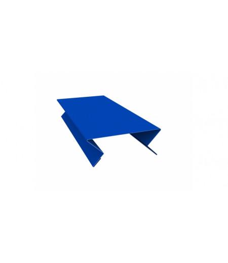 Планка угла внутреннего составная верхняя 0,45 PE с пленкой RAL 5005 сигнальный синий