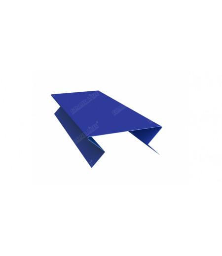 Планка угла внешнего составная нижняя 0,45 PE с пленкой RAL 5005 сигнальный синий
