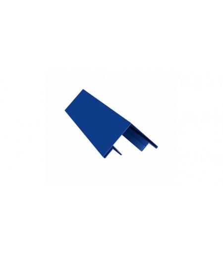 Планка угла внешнего составная верхняя 0,45 PE с пленкой RAL 5005 сигнальный синий