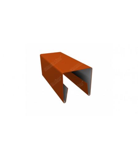 Планка П-образная заборная 20 0,45 PE с пленкой RAL 2004 оранжевый