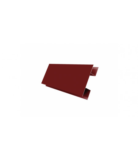 Планка H-образная 0,4 PE с пленкой RAL 3005 красное вино