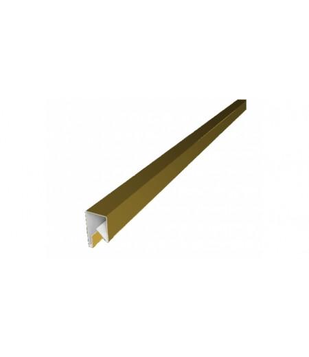 Планка П-образная заборная 20 0,45 PE с пленкой RAL 1018 цинково-желтый