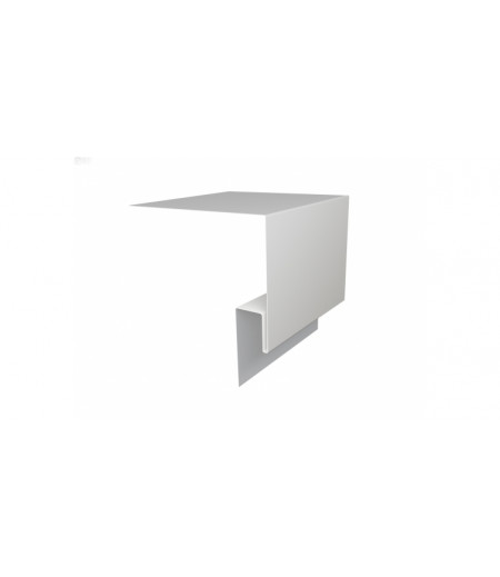 Планка околооконная сложная (Блок-хаус, Экобрус) Grand Line 200х75х23 0,45 PE с пленкой RAL 9003 сигнальный белый