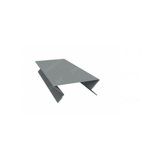 Планка угла внутреннего составная верхняя 0,45 PE с пленкой RAL 7005 мышино-серый