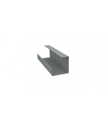 Планка угла внутреннего составная нижняя 0,45 PE с пленкой RAL 7005 мышино-серый