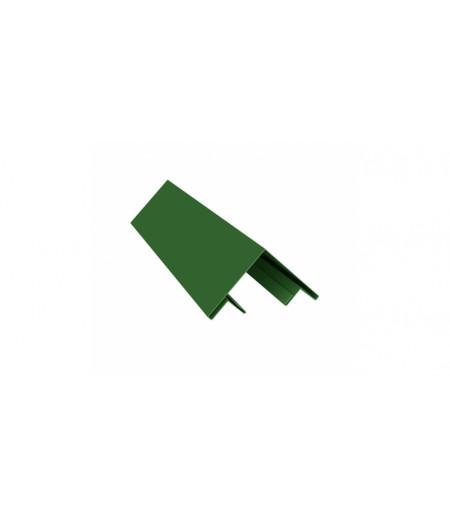 Планка угла внешнего составная верхняя 0,45 PE с пленкой RAL 6002 лиственно-зеленый