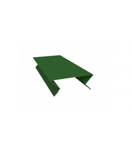 Планка угла внутреннего составная верхняя 0,45 PE с пленкой RAL 6002 лиственно-зеленый