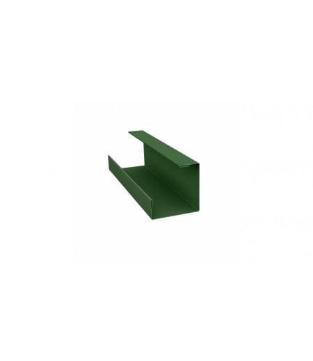 Планка угла внутреннего составная нижняя 0,45 PE с пленкой RAL 6002 лиственно-зеленый