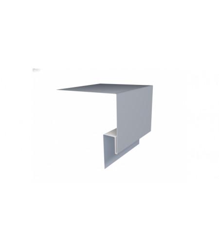 Планка околооконная сложная (Блок-хаус, Экобрус) Grand Line 250х75х23 0,45 PE с пленкой RAL 9006 бело-алюминиевый