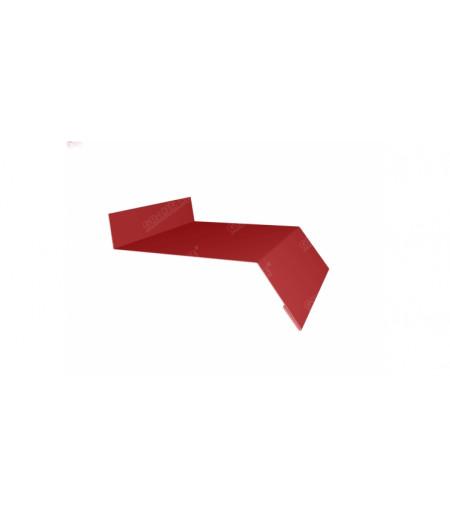 Отлив простой 150 0,45 PE с пленкой RAL 3003 рубиново-красный