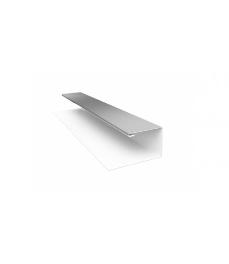 Планка П-образная (Блок-хаус, Экобрус) 0,5 Satin с пленкой RAL 9003 сигнальный белый
