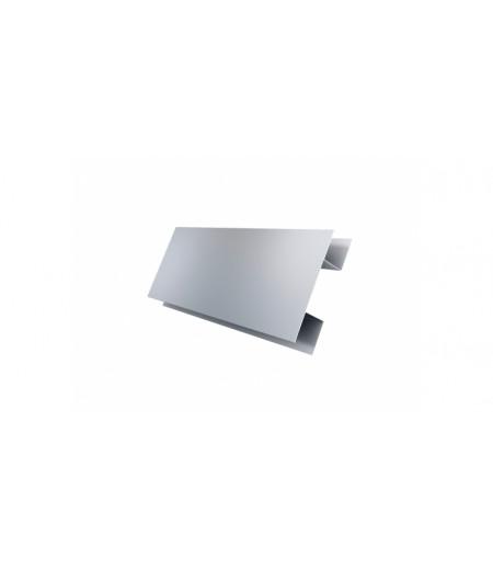Планка H-образная Экобрус 0,5 Satin с пленкой RAL 9006