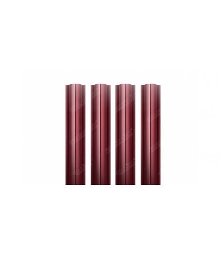 Штакетник Круглый 0,45 PE-Double RAL 3005 красное вино (1,8м)
