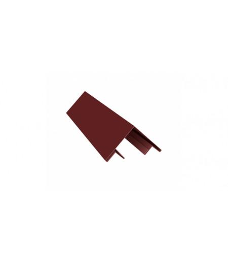 Планка угла внешнего составная верхняя 0,45 PE с пленкой RAL 3009 оксидно-красный