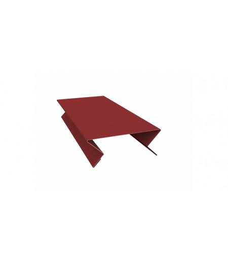 Планка угла внутреннего составная верхняя 0,45 PE с пленкой RAL 3009 оксидно-красный