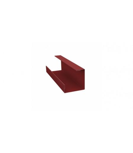 Планка угла внутреннего составная нижняя 0,45 PE с пленкой RAL 3009 оксидно-красный