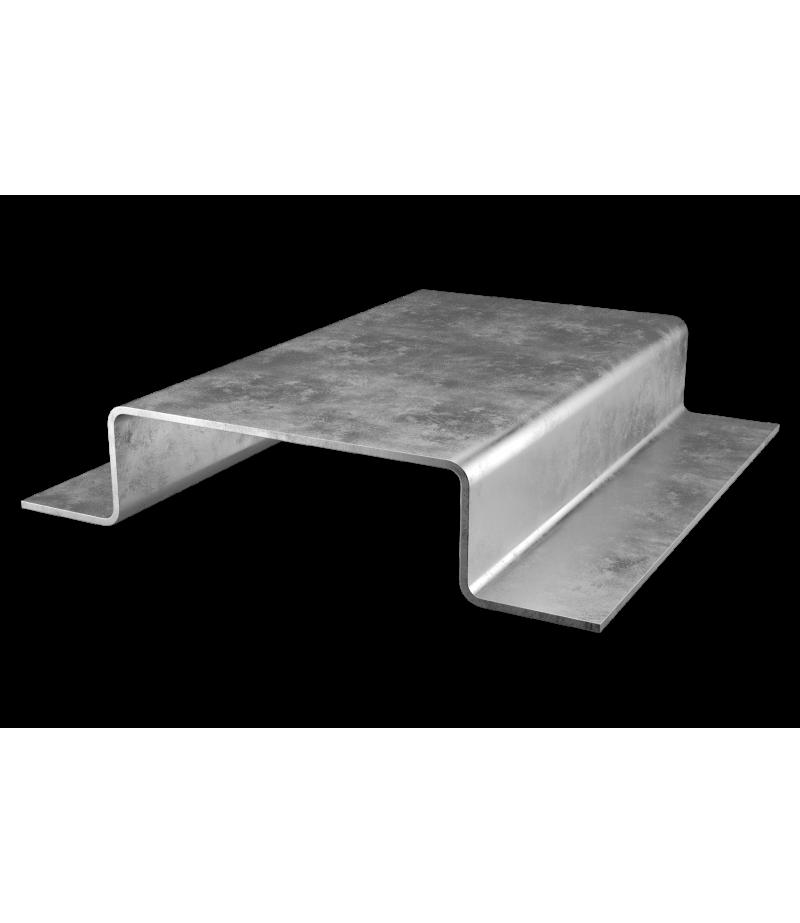 Профиль фасадный П-образный 50 мм