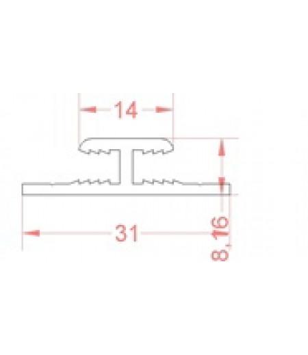 Н- образный профиль под 3-х мм композит 3,8 мм